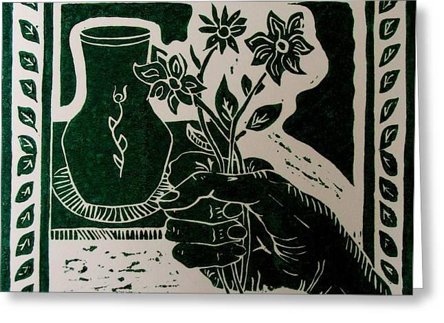 The Florist Greeting Card by Caroline Street