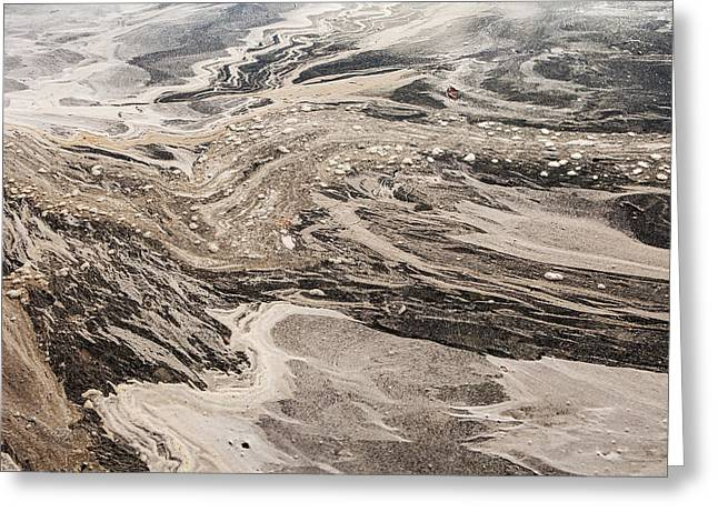 Sand Patterns Greeting Cards - The Flow Greeting Card by Michele Cornelius