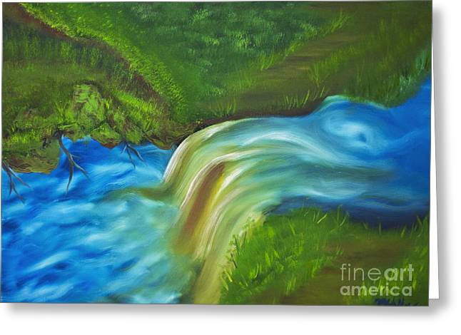 Tannic Greeting Cards - The Flow of Falling Creek Greeting Card by Jason Matthew Walker
