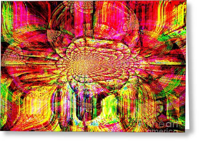Print Tapestries - Textiles Greeting Cards - The Flow of Gentleness and Compassion Greeting Card by Fania Simon