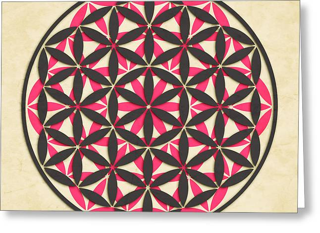 Buddhist Digital Greeting Cards - The Flower of Life 1 Greeting Card by Jazzberry Blue