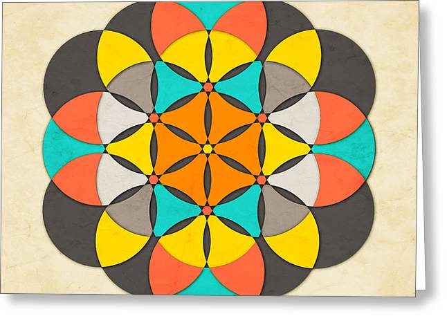Buddhist Digital Greeting Cards - The Flower of Life 2 Greeting Card by Jazzberry Blue