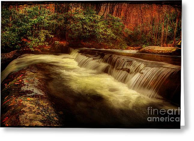 Flowing Stream Greeting Cards - The Flows Healing Touch Greeting Card by Michael Eingle