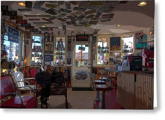 Photo Art Gallery Greeting Cards - The Flying A Service Station Greeting Card by Thom Zehrfeld