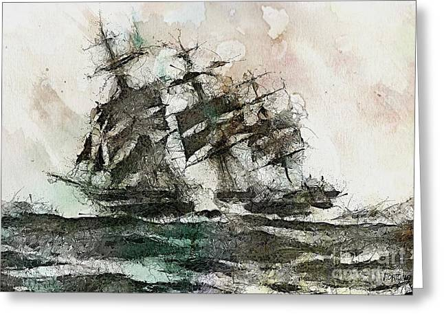 The Flying Dutchman Greeting Card by Dragica  Micki Fortuna
