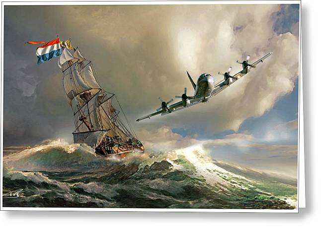 Iraq Greeting Cards - The Flying Dutchman Greeting Card by Peter Van Stigt