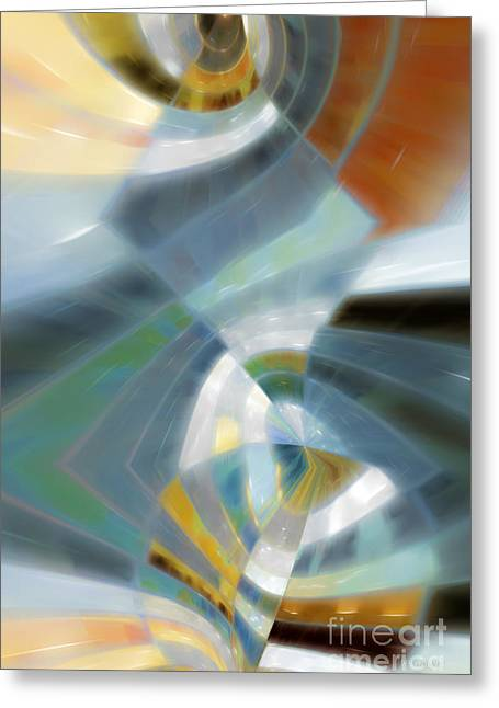 Blue White Silver Yellow Red Gold Greeting Cards - The Focus Of Our Message. Matthew 10 34 Greeting Card by Mark Lawrence