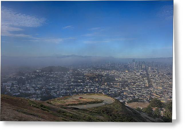 Viewpoint Greeting Cards - The Fog Is Rolling In Greeting Card by Laurie Search