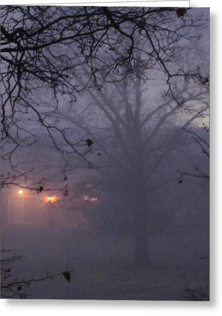 Guy Ricketts Photography And Art Greeting Cards - The Foggy Veil Greeting Card by Guy Ricketts