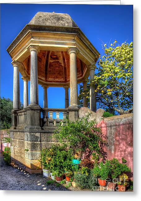 Nigel Hamer Greeting Cards - The Folly at the Palacio de Estoi Greeting Card by English Landscapes