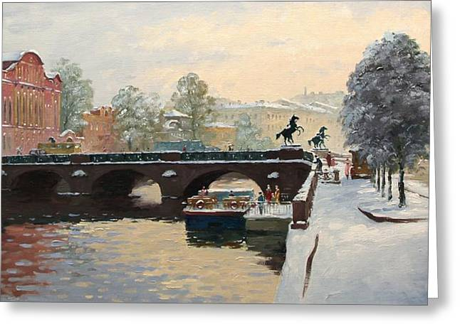 Prospects Greeting Cards - The Fontanka River. Saint Petersburg Greeting Card by Alexander Alexandrovsky