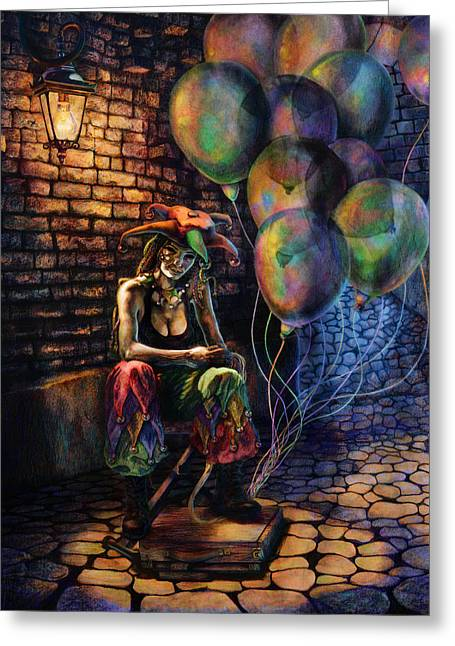 The Fool Dreamer Greeting Card by Kd Neeley