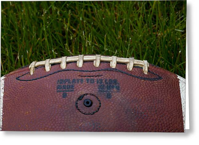 Football Closeup Greeting Cards - The Football II Greeting Card by David Patterson