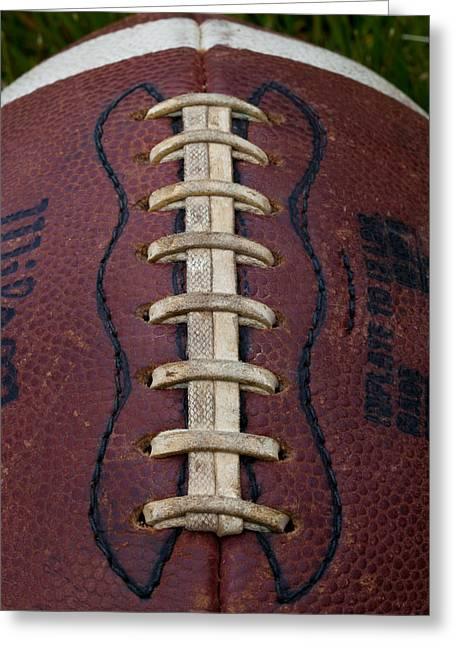 Football Closeup Greeting Cards - The Football III Greeting Card by David Patterson