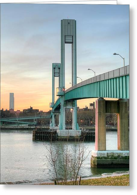 Harlem River Greeting Cards - The Footbridge Greeting Card by JC Findley