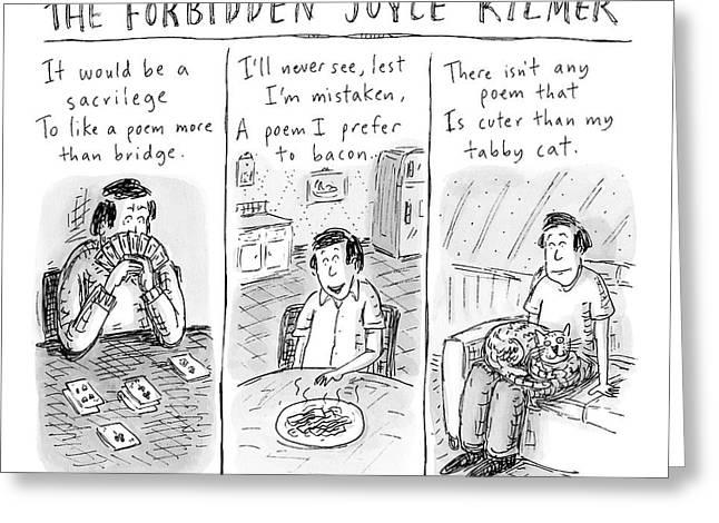The Forbidden Joyce Kilmer Greeting Card by Roz Chast