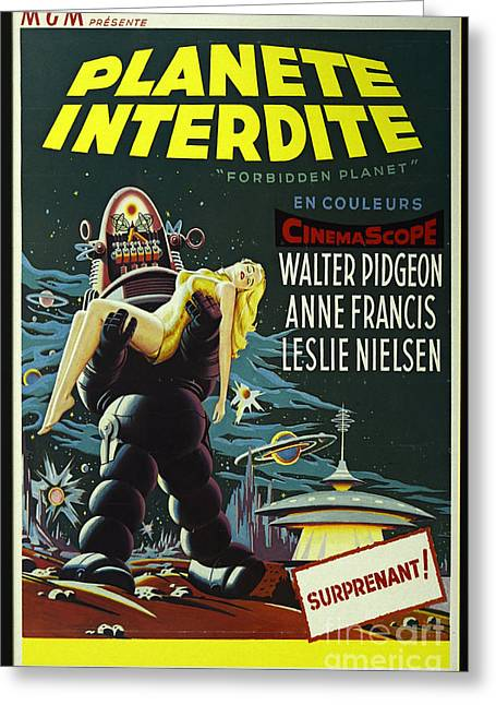 The Forbidden Planet Vintage Movie Poster Greeting Card by Bob Christopher