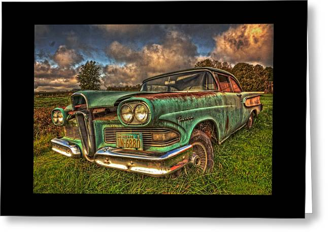 Canvas Art Prints Greeting Cards - The Ford Edsel Ranger Greeting Card by Thom Zehrfeld