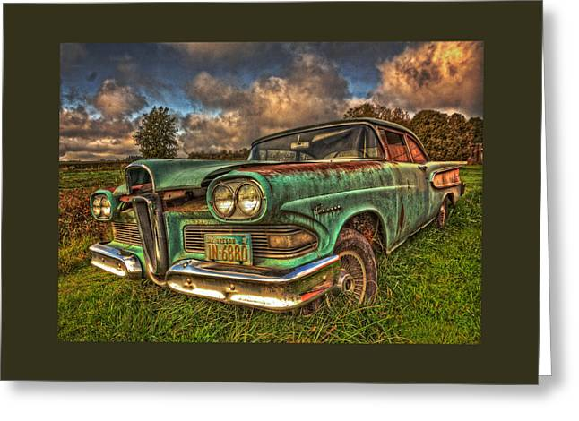 Canvas Wall Art Greeting Cards - The Ford Edsel Ranger Greeting Card by Thom Zehrfeld