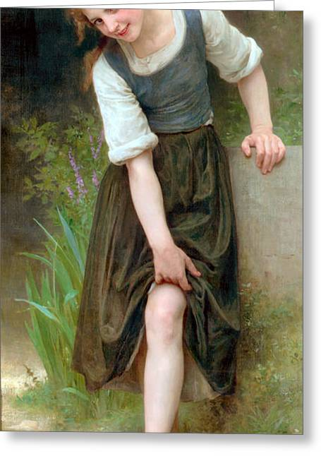 Williams Sisters Greeting Cards - The Ford Greeting Card by William Bouguereau
