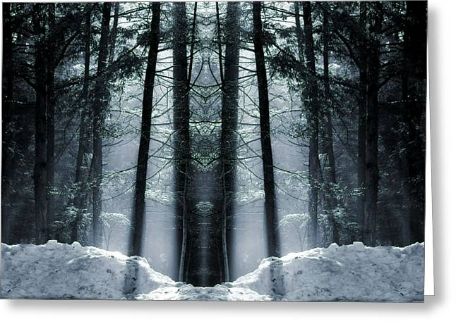Entrance Door Greeting Cards - The Forest Is Alive Greeting Card by Dan Sproul