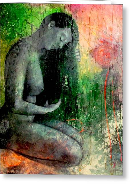 Empower Paintings Greeting Cards - The Forest Keeper Greeting Card by Agata Surma