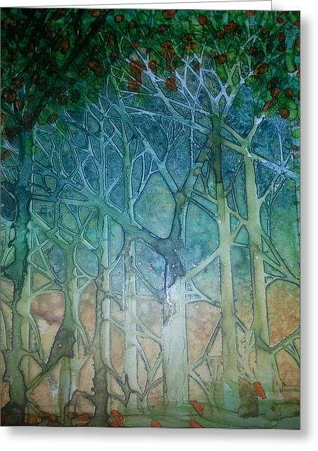 Prague Paintings Greeting Cards - The Forest Greeting Card by Kelly Dallas