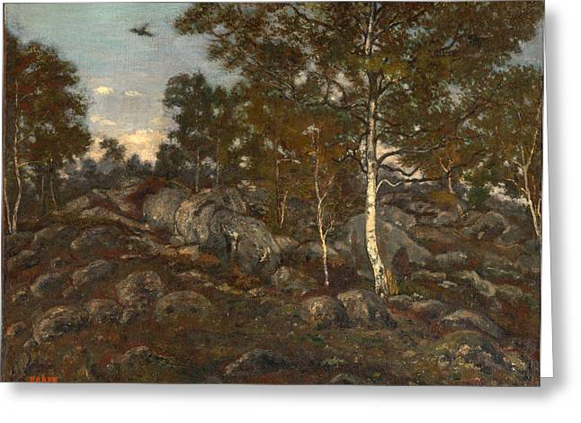 Fontainebleau Forest Greeting Cards - The Forest of Fontainebleau Greeting Card by Antoine-Louis Barye