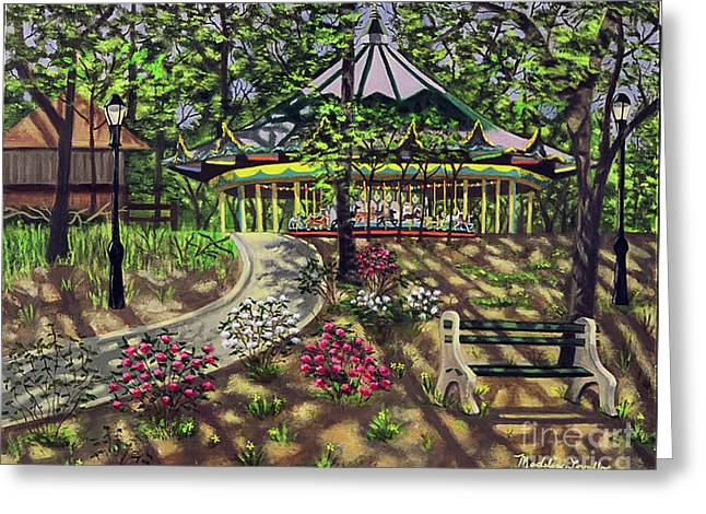 The Forest Park Carousel Greeting Card by Madeline  Lovallo