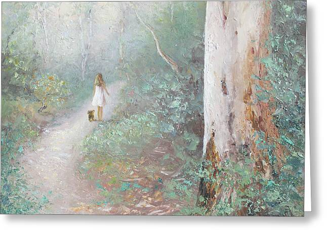 The Forest Path Greeting Card by Jan Matson