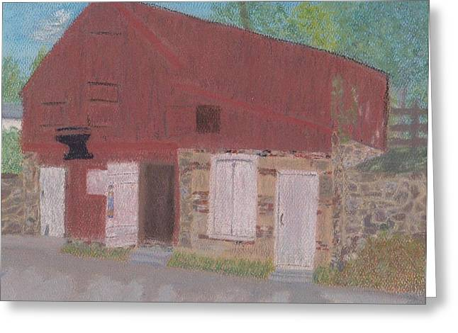 Historical Buildings Pastels Greeting Cards - The Forge Waterford VA Greeting Card by Cathy Pierce Payne