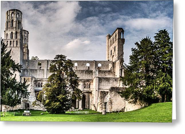 Medieval Temple Greeting Cards - The forgotten Abbey 2 Greeting Card by Weston Westmoreland