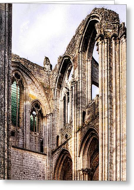 Medieval Temple Greeting Cards - The forgotten Abbey 4 Greeting Card by Weston Westmoreland