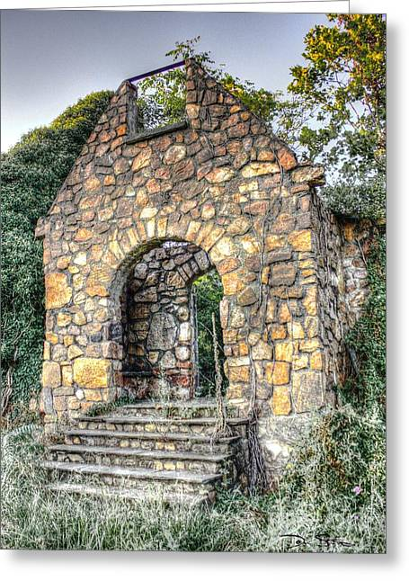 Medieval Entrance Digital Greeting Cards - The Forgotten Entry Greeting Card by Dan Stone