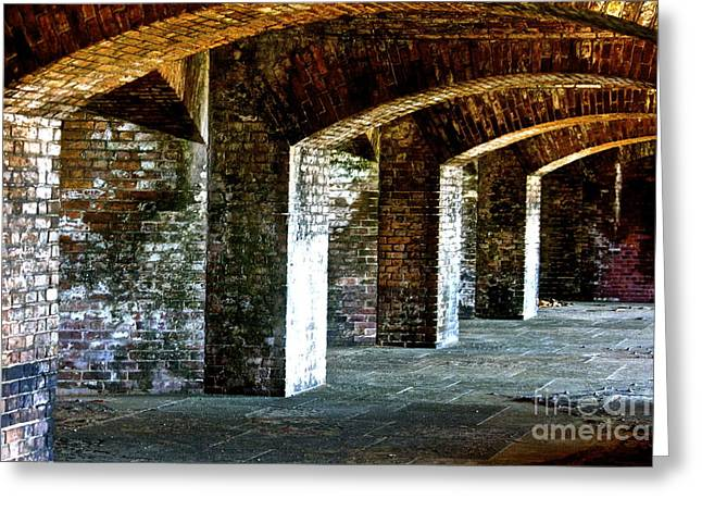 The Fort At The Dry Tortugas National Park Greeting Card by Deborah Talbot - Kostisin