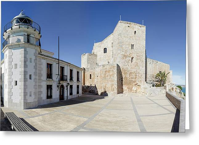 The Fortress And Lighthouse, Chateau De Greeting Card by Panoramic Images