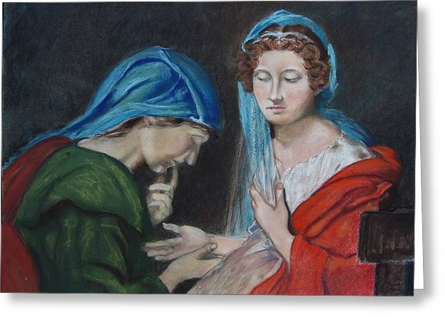 Clock Pastels Greeting Cards - The Fortune Teller Greeting Card by Karen Coggeshall