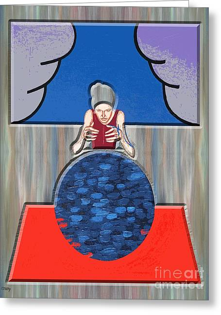 Gypsy Mixed Media Greeting Cards - The Fortune-teller Greeting Card by Patrick J Murphy