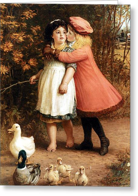 Ducklings Digital Greeting Cards - The Foster Sisters Greeting Card by Philip Richard Morris