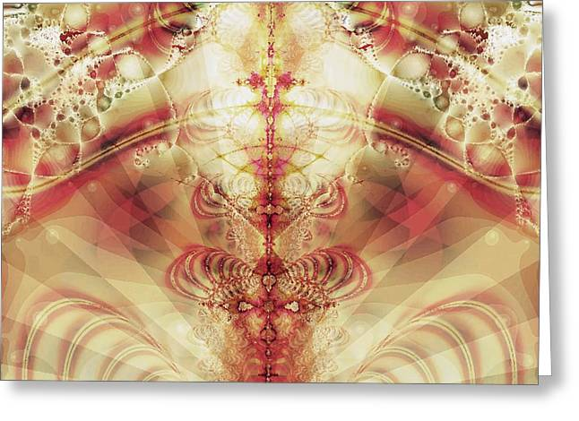 Abstract Fountain Of Youth Greeting Cards - The Fountain of Youth Greeting Card by Anastasiya Malakhova