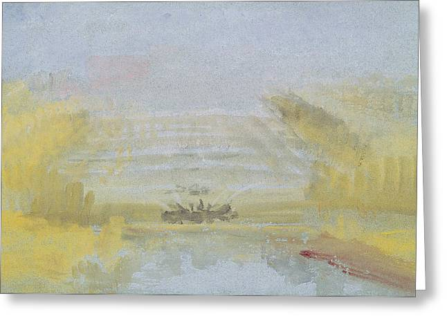 Water Garden Greeting Cards - The Fountains at Versailles Greeting Card by Joseph Mallord William Turner