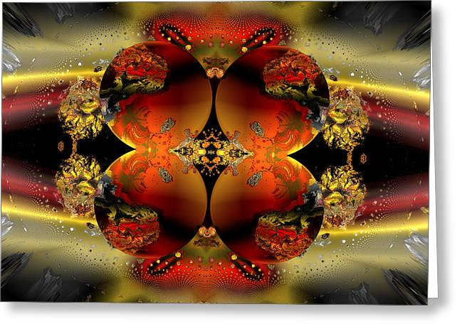 Algorithmic Abstract Greeting Cards - The four elements in assembly Greeting Card by Claude McCoy