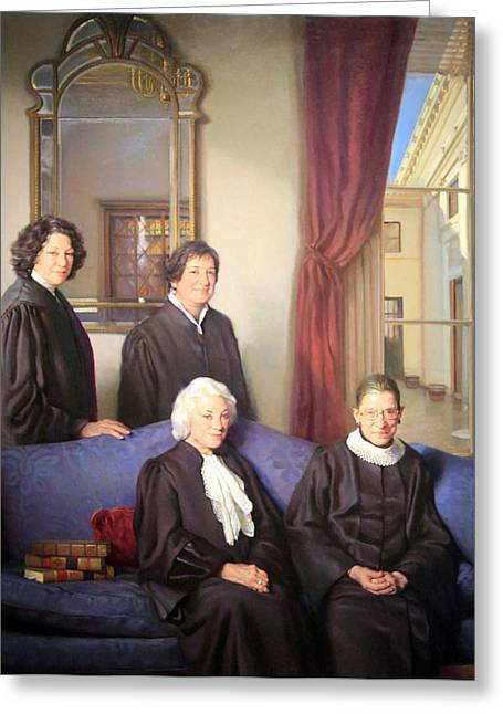 Connors Greeting Cards - The Four Justices -- The First Women On The Supreme Court Greeting Card by Cora Wandel