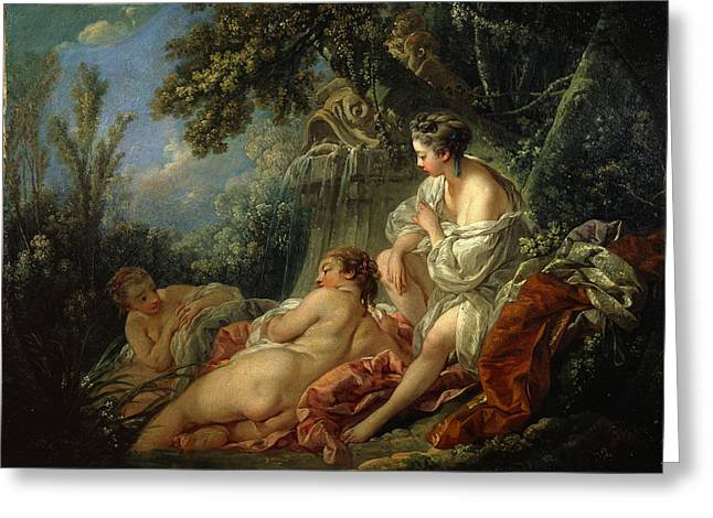 Francois Boucher Greeting Cards - The Four Seasons. Summer Greeting Card by Francois Boucher