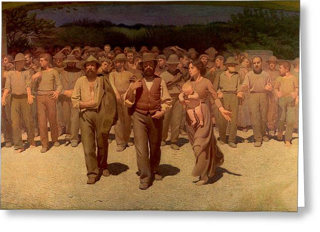 The Fourth Greeting Cards - The Fourth Estate Greeting Card by Giuseppe Pellizza da Volpedo