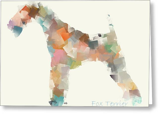 Abstract Of Dogs Greeting Cards - The Fox Terrier Modern Greeting Card by Bri Buckley