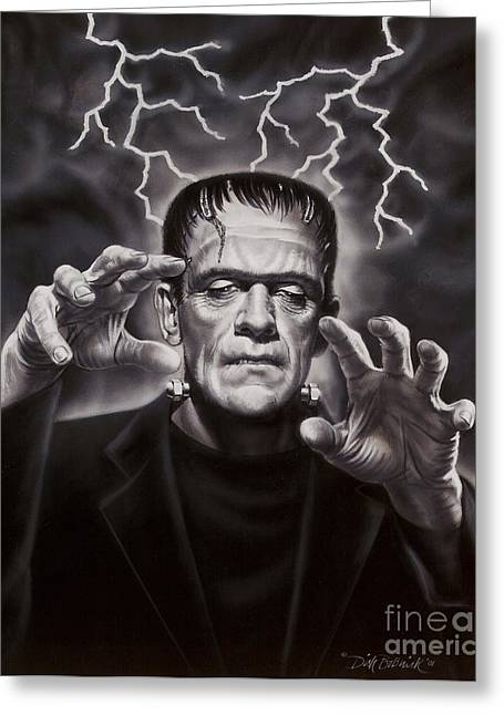 The Frankenstein Monster Greeting Card by Dick Bobnick