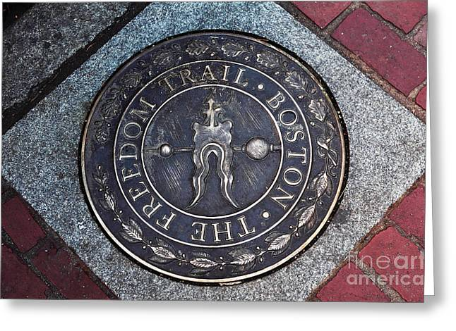 Americana Pictures Greeting Cards - The Freedom Trail Boston Greeting Card by John Rizzuto