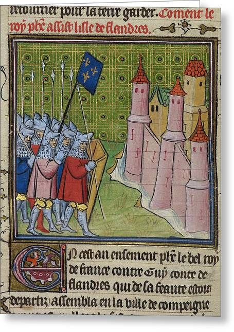 The French Besiege Lille Greeting Card by British Library