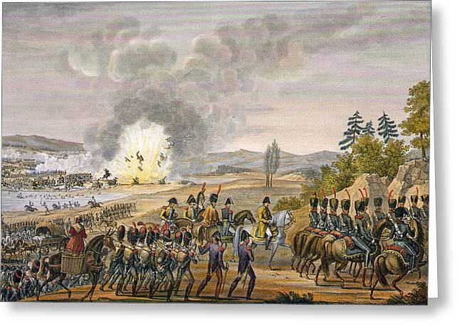 Explosion Greeting Cards - The French Retreat After The Battle Greeting Card by Louis Francois Couche